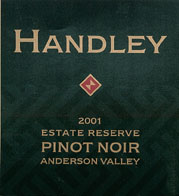 Pinot Noir Estate Reserve, Anderson Valley